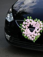 свадебные украшения на радиатор авто