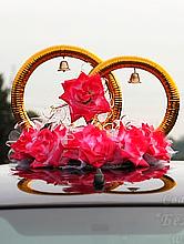 свадебные кольца на авто