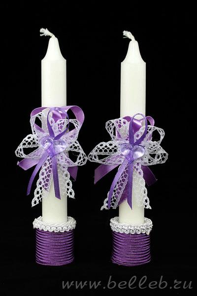 Родительская свеча и свечи молодоженам сделано своими руками
