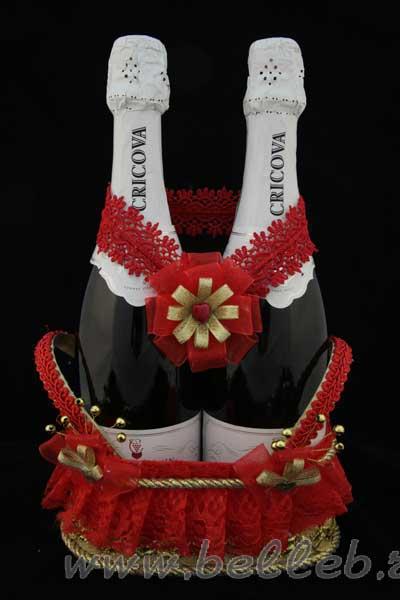 Корзинка для шампанского на свадьбу своими руками