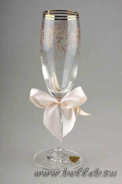 свадебные украшения на бокалы