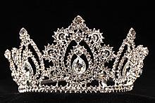 диадемы (короны, тиары) - высокие недорогие диадемы золотистые москва купить