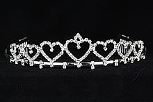 диадемы (короны, тиары) - красивая невысокая серебристая диадема купить