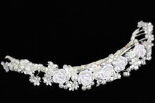 купить белые свадебные веночки из роз и жемчуга, фото