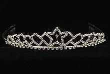 диадемы (короны, тиары) - серебристая стразовая диадема, каталог