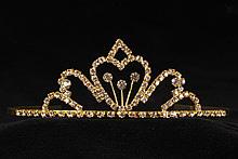 диадемы (короны, тиары) - свадебные аксессуары небольшая золотистая диадема москва