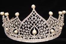 диадемы (короны, тиары) - диадема со стразами и цветами фото