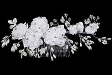 гребни для волос ручной работы с жемчугом и белыми цветами купить в москве