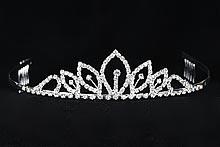 диадемы (короны, тиары) - маленькая стразовая диадема цена купить