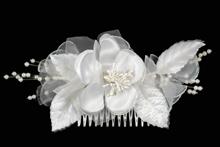 гребни для волос с цветком из ткани, купить красивый гребень