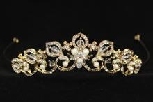 диадемы (короны, тиары) - золотистая диадема купить, фото, интернет-магазин, свадебный салон