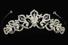 диадемы (короны, тиары) - серебристая плетеная диадема, фото, цена, интернет-магазин