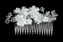белые свадебные гребни для волос купить, фото