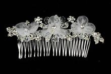 купить свадебный гребень для волос ручной работы, фото, москва, 2017