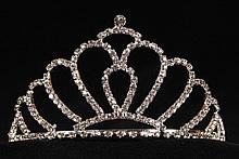 невысокая диадема (тиара, корона) золотистого цвета - интернет магазин диадемы для волос
