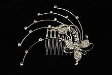 гребни для невесты - симпатичный гребень с серебристыми стразами купить в москве