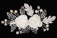 диадемы (короны, тиары) - купить высокую золотистую диадему со стразами, цена