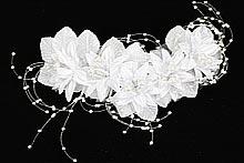 купить белый веночек с крупными цветами из ткани, фото, цены, каталог