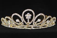диадемы (короны, тиары) - купить золотистую диадему со стразами, фото, каталог и цены, интернет-магазин