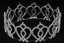 серебристая стразовая корона, купить для конкурса красоты, фото