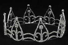 корона со стразами серебристого цвета, картинка, каталог, купить недорого