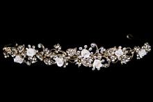 диадемы (короны, тиары) - золотистая плетеная диадема ручной работы, стоимость