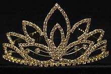 купить золотистую корону, диадему для конкурса красоты, невесты, интернет-магазин, фото, 2017