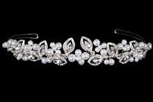 диадемы (короны, тиары) - серебристая плетеная диадема ручной работы, стоимость