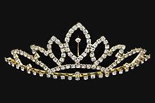 диадемы (короны, тиары) - диадемы усыпанные стразами средней высоты