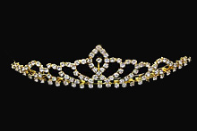 диадемы (короны, тиары) - невысокая золотистая диадема купить москва