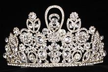 диадемы (короны, тиары) - стразовая диадема свадебная цена