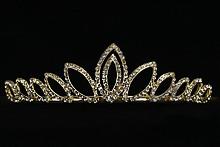 диадемы (короны, тиары) - где в москве продаются золотистые диадемы со стразами