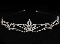диадемы (короны, тиары) - стразовые диадемы для невест серебристые
