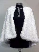 белая свадебная меховая накидка с капюшоном 18017. купить свадебные накидки из искусственного меха...