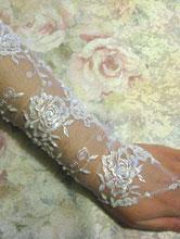 короткие свадебные перчатки, митенки
