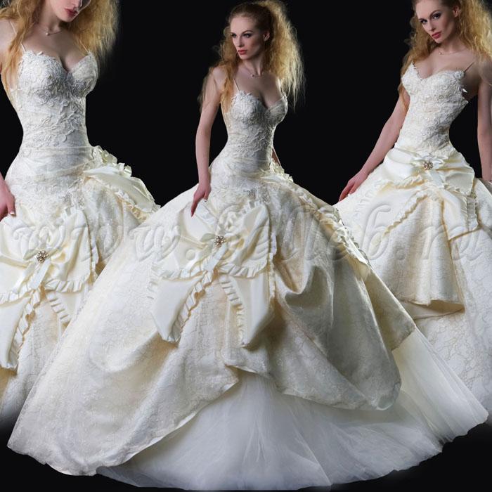 Свадебное платье l2290 пышное и