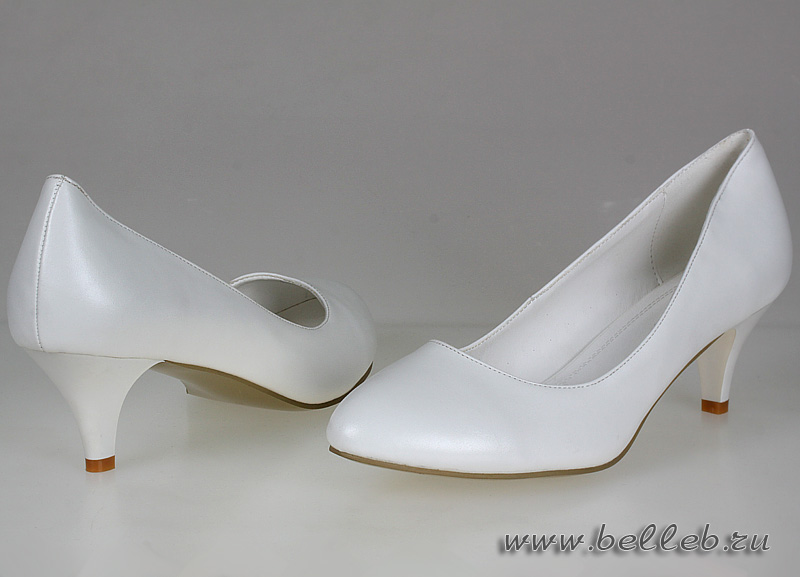 810227577 свадебная обувь, белые свадебные туфли большого размера на невысоком ...