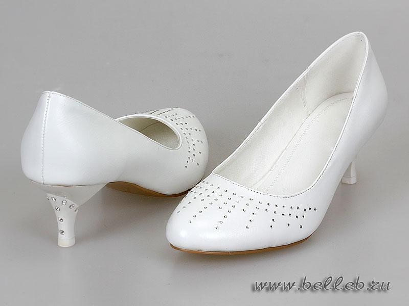 Купить Белые Туфли На Каблуке