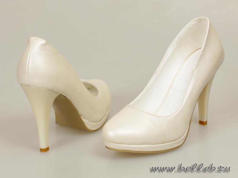 свадебные туфли цвета айвори (светло-бежевый, шампань, кремовый) на небольшой платформе