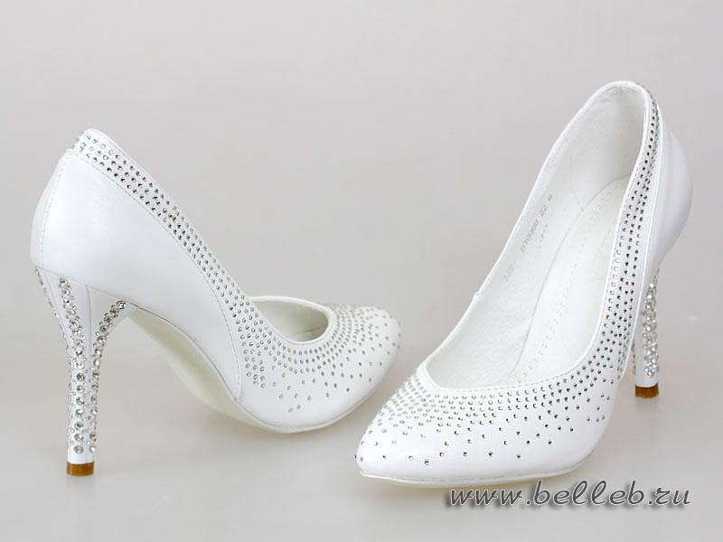 Белые Туфли Со Стразами