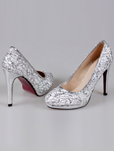 кружевные серебристые туфли на платформе, фото, цена