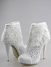 свадебная обувь, купить гипюровые свадебные сапоги, ботильоны на свадьбу со стразами, интернет