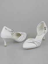 свадебная обувь, белые туфли на низком каблуке, каталог с ценами, фото, интернет-магазин