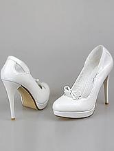 свадебная обувь, белые туфли на платформе на высоком каблуке, фото, цены, каталог