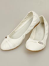 обувь на свадьбу, балетки молочного цвета, фото, цены