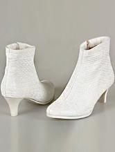 свадебная обувь, белые свадебные полусапожки, фото, каталог, цены
