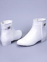 свадебная обувь, белые сапожки ботильоны на низком каблуке, фото, цены, интернет-магазин