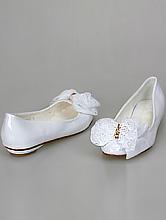 свадебная обувь, белые балетки с бантом, каталог с ценами, фото