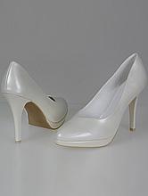 обувь на свадьбу, свадебные туфли цвета айвори (шампань, кремового, светло-бежевый) на платформе