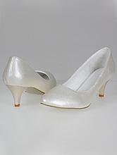 обувь на свадьбу, свадебные туфли цвета айвори (шампань, кремового, светло-бежевого) на невысоком каблуке